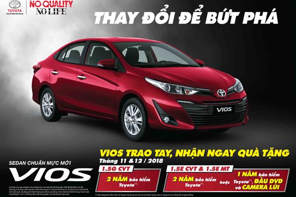 Chương trình dành cho khách hàng mua xe Vios