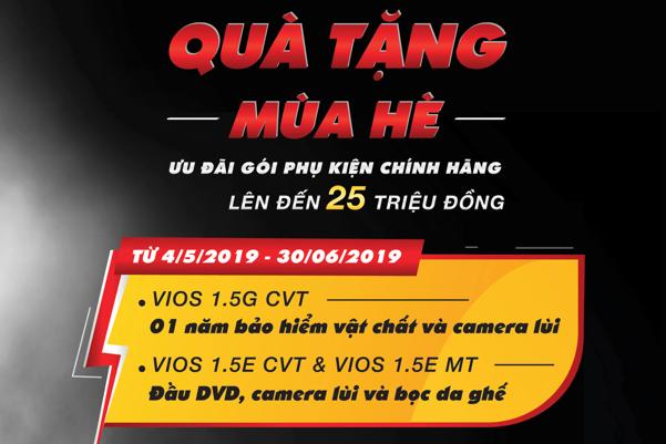 Ưu Đãi Tháng 05-06/2019 Dành Cho Toyota Vios