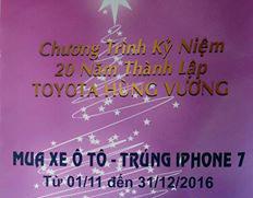 Chương trình Mua xe Ô tô - Trúng Iphone 7