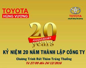 Chương trình Khuyến mãi khách làm dịch vụ tại Toyota Hùng Vương